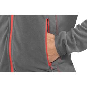 Bergans Lovund Fleece Jacket Herr solid dark grey/fire red